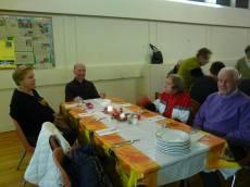 easton church harvest dinner Fellowshiping 1