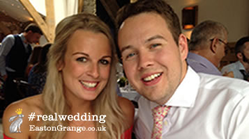 Meet Esme & Nick. Real Wedding. Easton Grange