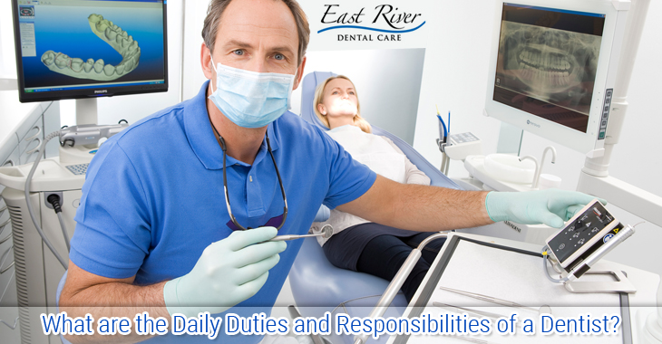 what are the daily duties and responsibilities of a dentist