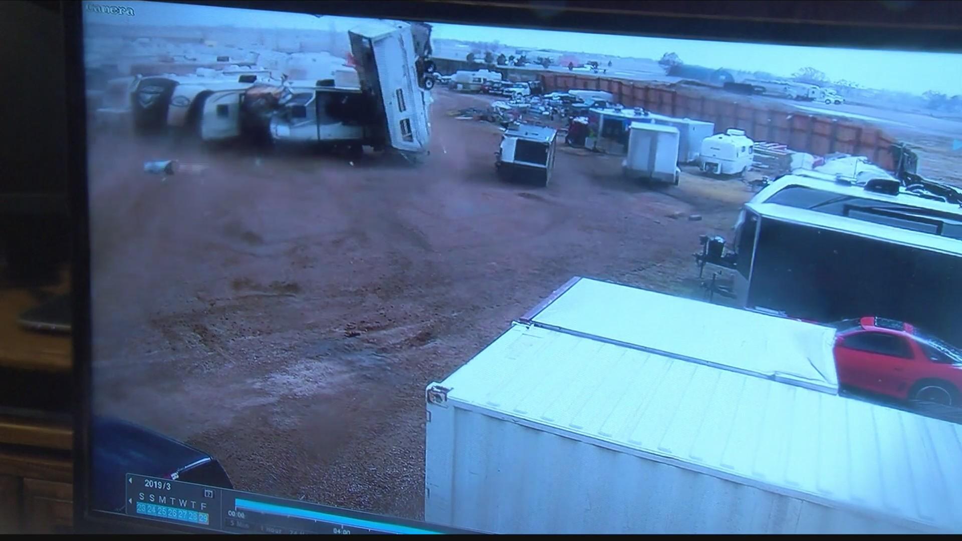 Tornado rips through Colorado storage facility