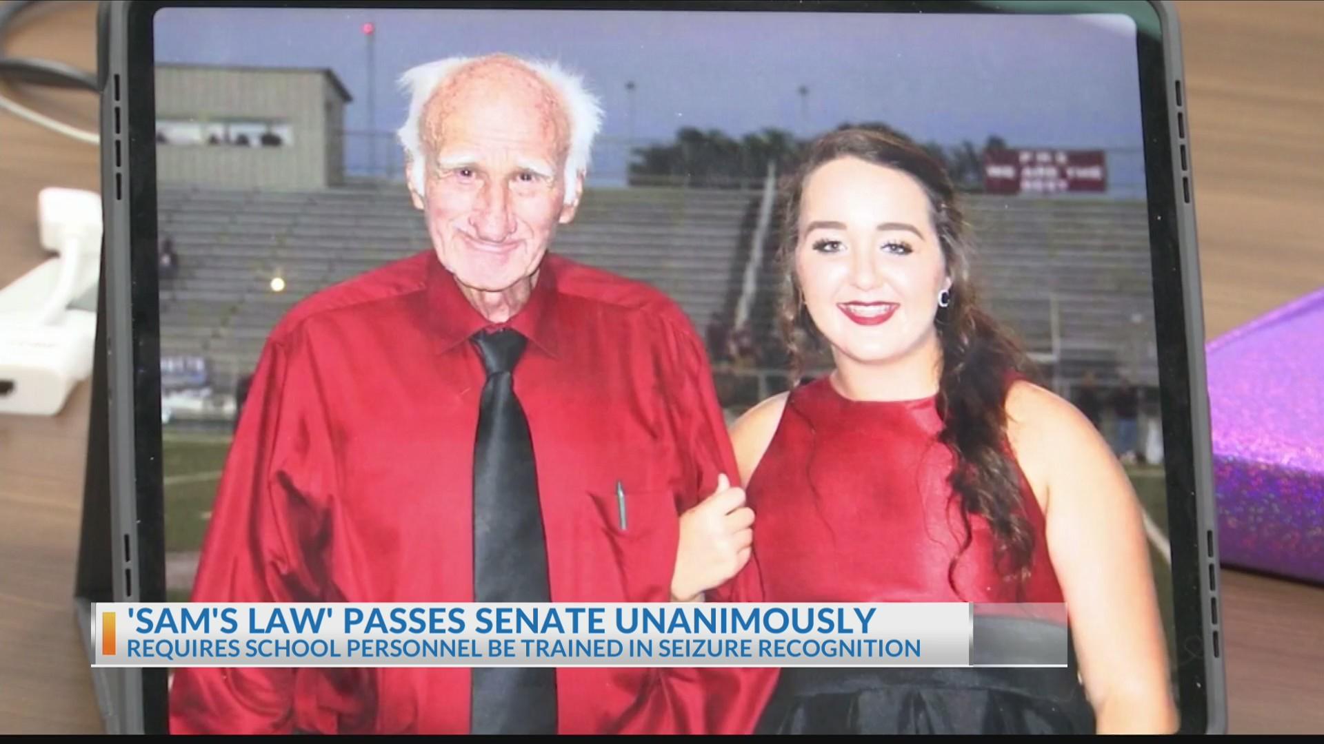 'Sam's Law' passes Senate unanimously, heading to governor's desk