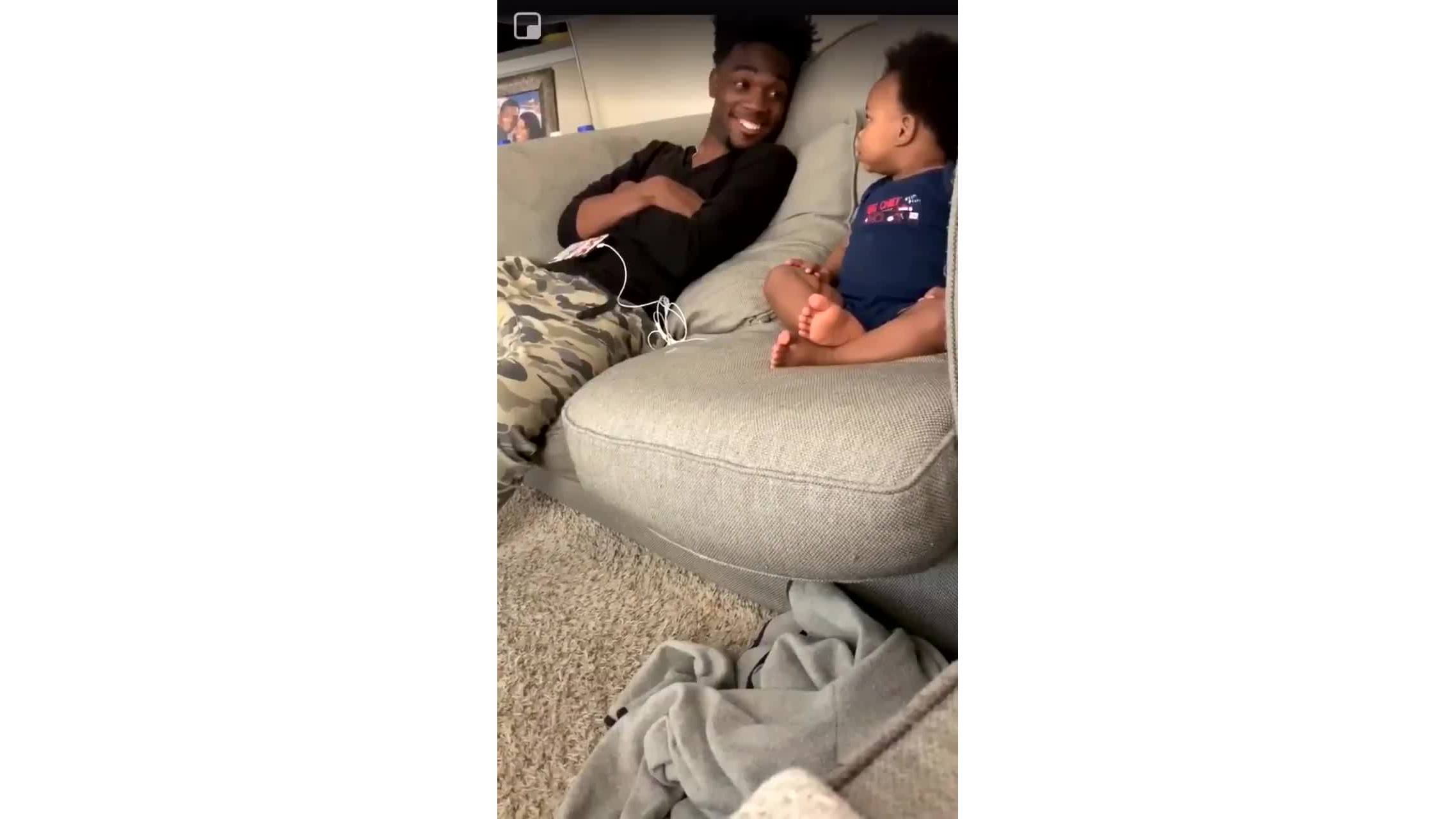 Viral video of baby talking to his dad will melt your heart