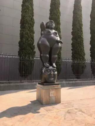 plaza botero traveling to medellin