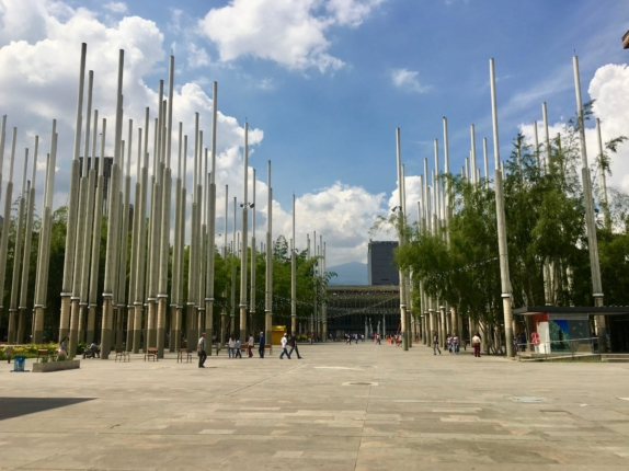 plaza de las luces traveling to medellin