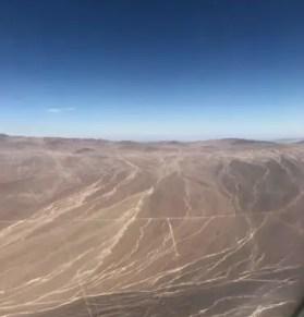 atacama desert plane view birds eye