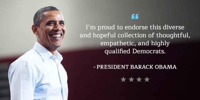President Obama Endorsing Democrats