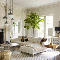 East Unique   luxury-living-room-design-with-pendant ...