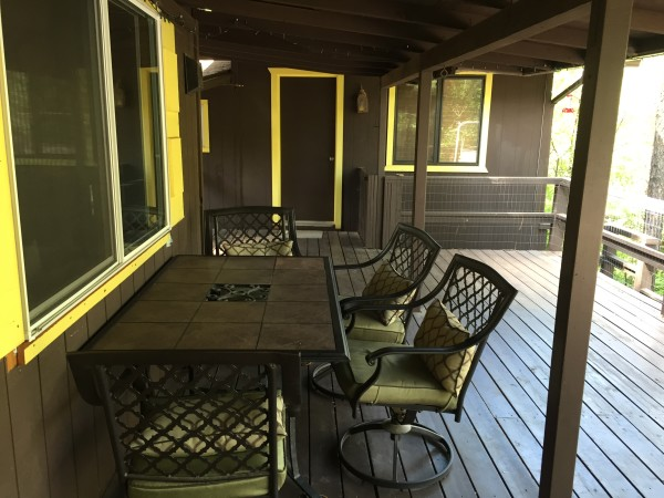 Dining Table under back patio