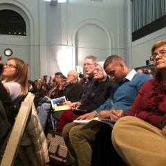 Analysis:   Packed Water Town Hall evokes spirit of '76, '36 as data pours in