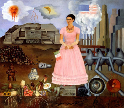 Self Portrait on Borderline - Frida Kahlo