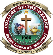 college opf Ozarks Seal