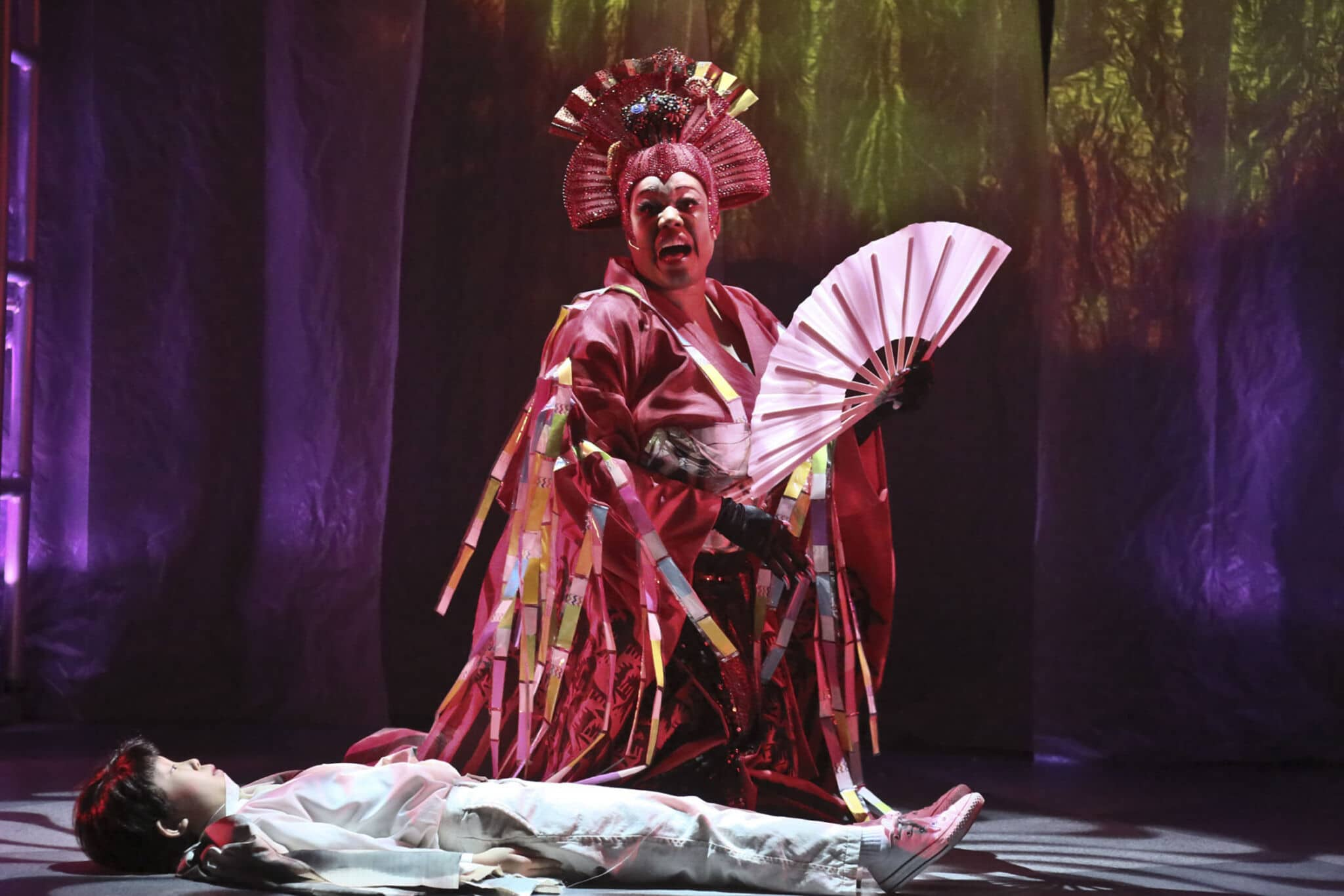 """085817bbb9e6 Constance Jewell Lopez as the Acid Queen in the East West Players production  of """"The Who s Tommy""""."""