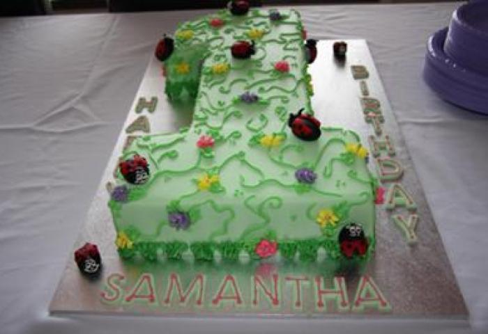93 1st Birthday Cake Homemade Bild Konnte Enthalten 1 Person