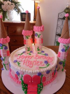 Princess Castle 1st Birthday Cake