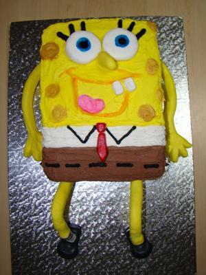 Spongebob Squarepants Birthday Cake For A Three Year Old