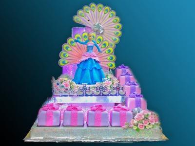 Sweet Barbie 17th Birthday Cake