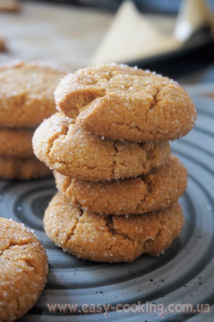 Печиво з імбирем, спеціями, медом, у цукрі, з тріщинками - рецепт