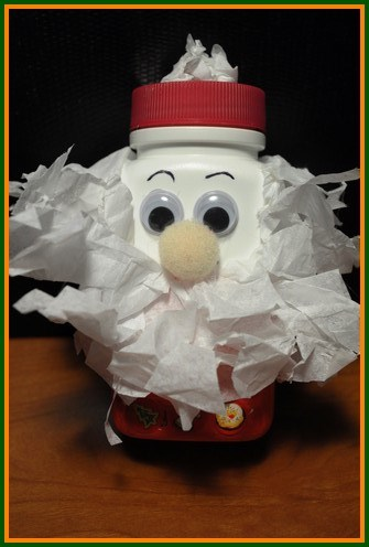 Christmas Crafts for Kids  A santa bottle full of