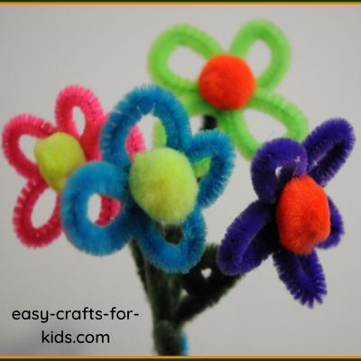 Flower Pipe Cleaner Craft For Kids