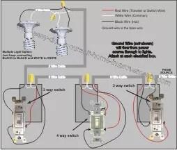 four way switch wiring diagram multiple lights 1980 shovelhead 4
