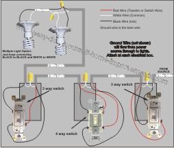 four way switch wiring diagram multiple lights baldor industrial motor 4