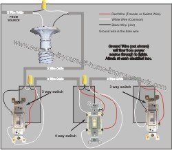 can light wiring diagram electricity electronics and diagrams for hvac 4 way switch
