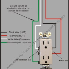 Home Electrical Outlet Wiring Diagrams 1963 Impala Diagram Split Plug