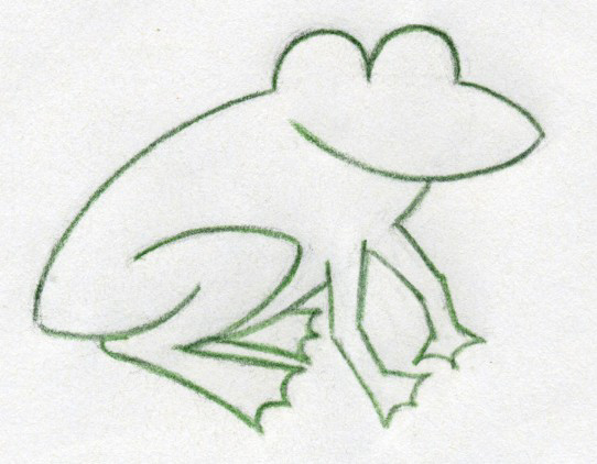 how to draw a cute frog step by step