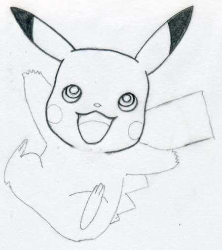 Draw Pikachu Quickly And Easily