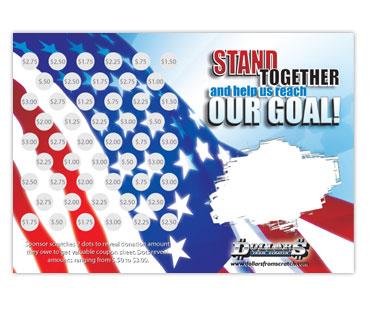 Creative Fund Raising Ideas Patriotic Scratch Cards And