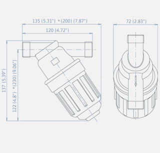 Easy Screen Filter (Drip Irrigation) [AMI39T0013]