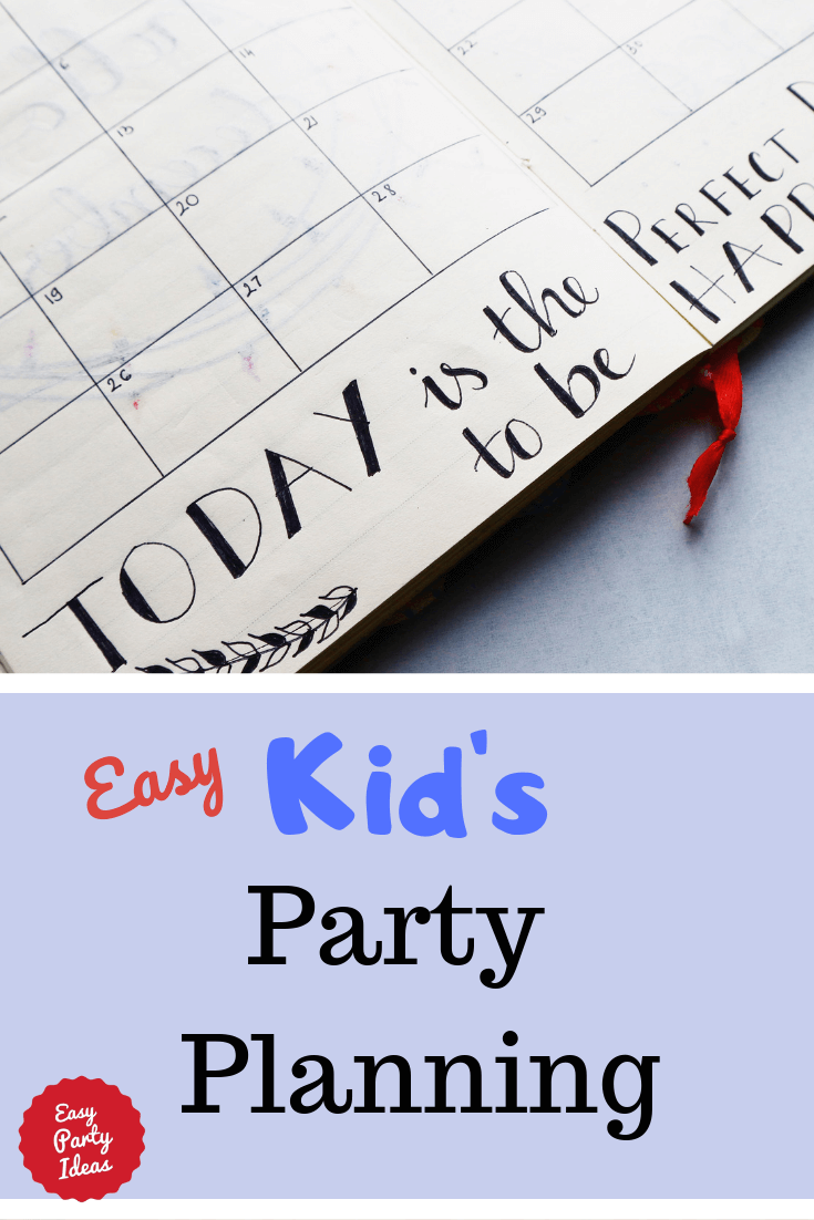 easy kids party planning