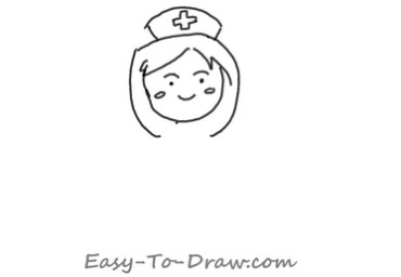 How to draw a cartoon registered nurse with a notebook in