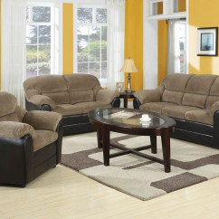 3pc Recliner Sofa Set Ultrasuede Bed 3 Piece Brown Corduroy Espresso Pub