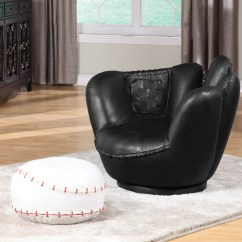 Baseball Desk Chair Modern Outdoor Dining Chairs Our Glove And Ottoman Is A Great