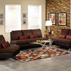 2 Piece Brown Leather Sofa French Style Cover Suede Set Umf51760 Jpg