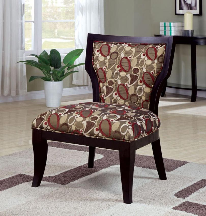 Red And Brown Accent Chairs