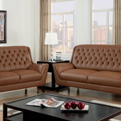 Tufted Button Sofa Ink Remover For Leather 2 Pcs Brown Set Umfcm6035 Jpg