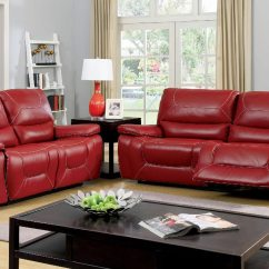 Red Leather Sofas And Chairs How To Remove Musty Smell From Sofa 2 Pcs Set