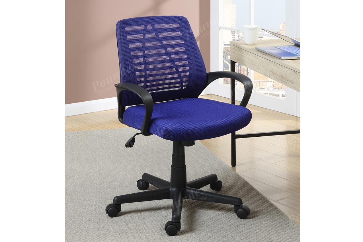 desk chair blue wedding cover hire services office