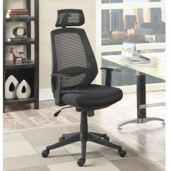 Office Chair Neck Support Folding Desk With Wheels Black