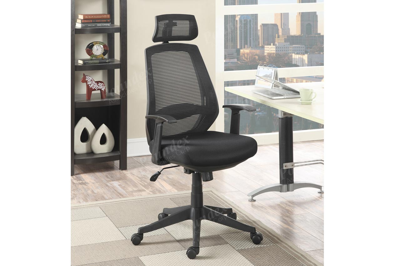 neck support for office chair india tub accent black with