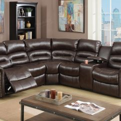 Sectional Reclining Leather Sofas Costco Corner Sofa 3 Pcs Brown Set