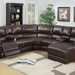 Reclinable Sectional Sofas Sofa Beats Records 5 Pcs Reclining Brown Leather Set