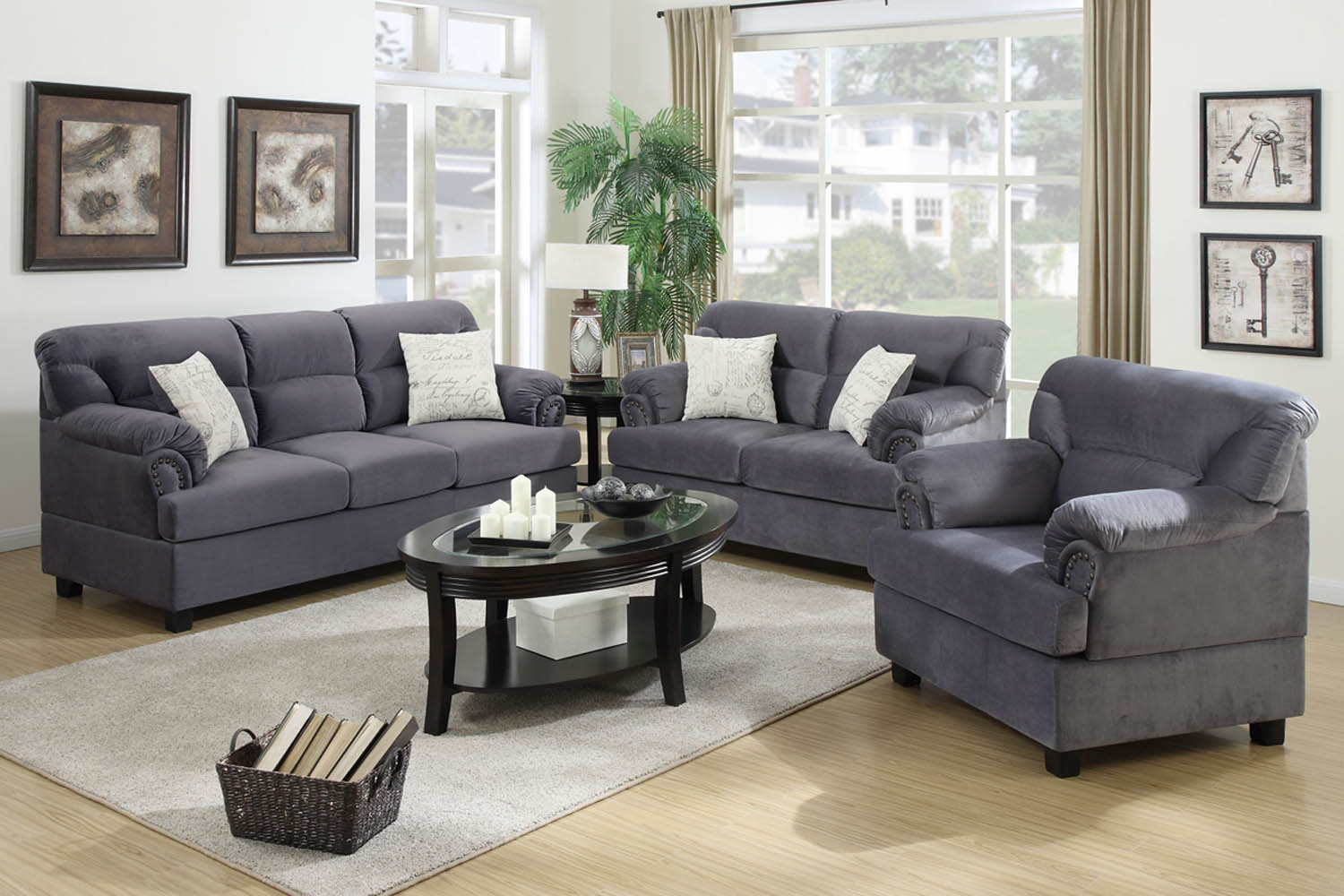 suede living room furniture light blue 3 piece grey miro fiber sofa set umff7916 jpg