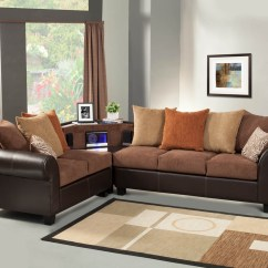 Lucas Beige Orange Leather Sofa Set Antique Sectional Brown With Aux Cd And Am Fm Stereo