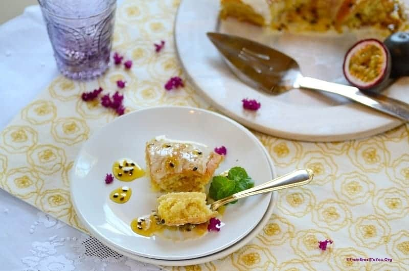 Passion Fruit Cake with Double Topping