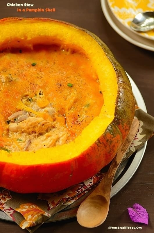 Chicken Stew in a Pumpkin Shell (Frango na Moranga)