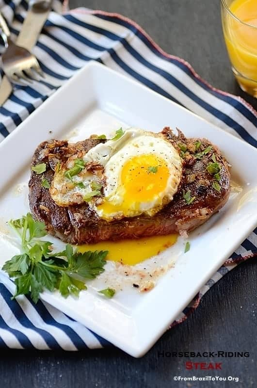 Horseback-Riding Steak (Bife `a Cavalo) -- The quickest and most easy-to-prepare Steak!!!