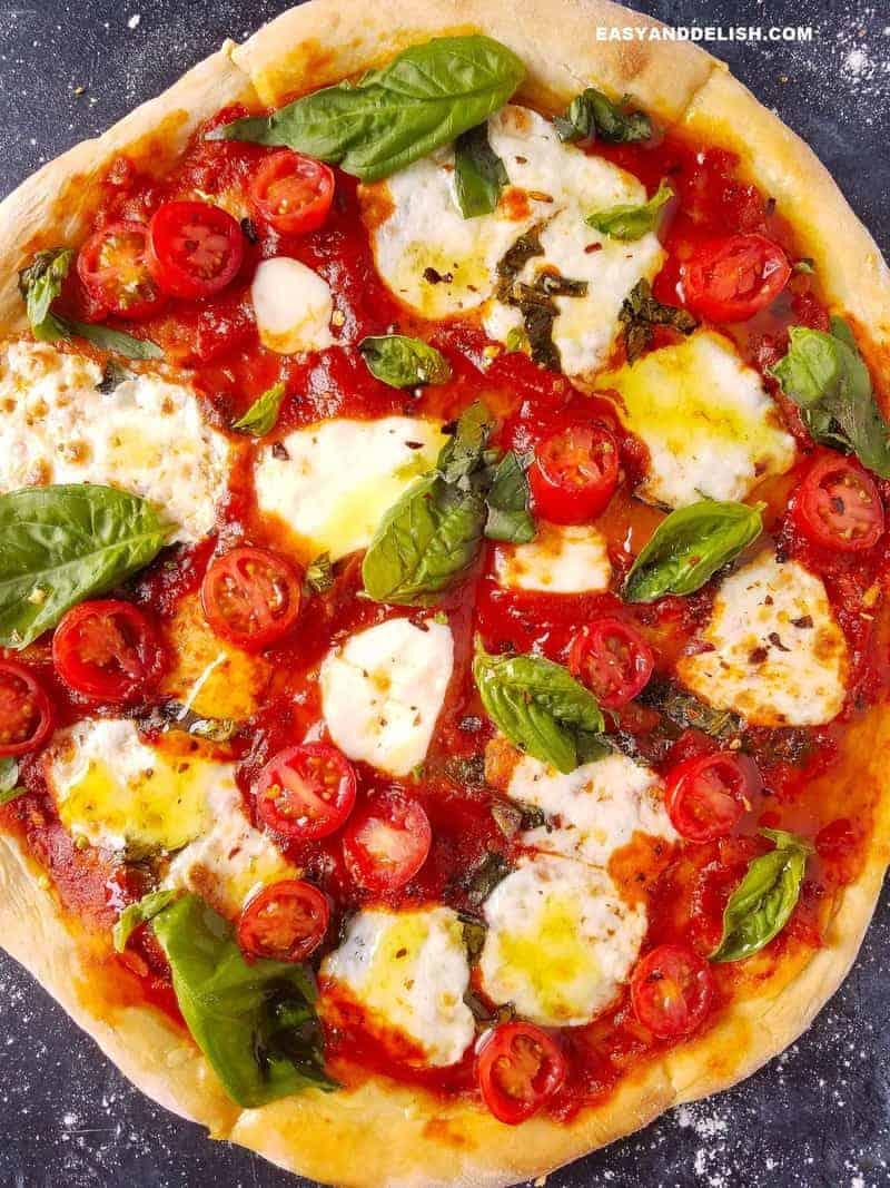 Best Homemade Margherita Pizza under 200 calories